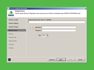 Veeam Server Credentials